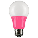 Sunlite 80168-SU A19/3W/P/LED LED A Type Colored 3W Light Bulb Medium (E26) Base, Pink