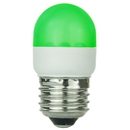 Sunlite 80252-SU T10/LED/1W/G T10 Tubular Indicator, Medium Base Light Bulb, Green