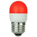 Sunlite 80253-SU T10/LED/1W/R T10 Tubular Indicator, Medium Base Light Bulb, Red