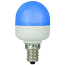Sunlite 80256-SU T10 Tubular Indicator, Candelabra Base Light Bulb, Blue