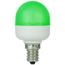 Sunlite 80268-SU T10/LED/0.5W/C/G T10 Tubular Indicator, Candelabra Base Light Bulb, Green