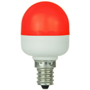 Sunlite 80269-SU T10/LED/0.5W/C/R T10 Tubular Indicator, Candelabra Base Light Bulb, Red