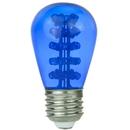 Sunlite 80362-SU S14/30LED/MED/B LED S14 Colored Sign 0.9W (10W Equivalent) Light Bulb Medium (E26) Base, Blue