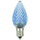 Sunlite 80700-SU L3C7/LED/B/6PK L3C7/LED/B/24PK LED C7 0.4W Blue Colored Decorative Chandelier Light Bulbs, Candelabra (E12) Base, 6 Pack