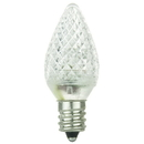 Sunlite 80703-SU L3C7/LED/W/6PK L3C7/LED/W/24PK LED C7 0.4W White Decorative Chandelier Light Bulbs, Candelabra (E12) Base, 6 Pack