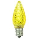 Sunlite 80709-SU L3C9/LED/Y/6PK L3C9/LED/Y/24PK LED C9 0.4W Yellow Colored Decorative Chandelier Light Bulbs, Intermediate (E17) Base, 6 Pack