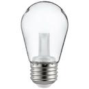 Sunlite 81067-SU S14/LED/CL/1W/27K/E26 LED S14 String Light Bulb, Warm White, Clear
