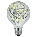 Sunlite 81176-SU G25/LED/DX/1.5W/27K LED String Light G25 27K - Warm White Decorative Bulb, Medium E26 Base