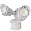 Sunlite 88918-SU LFX/OPF/MS/20W/30K/WH LED Dual Head Outdoor Security Light with Motion Sensor and Photocell, White, Warm White, 1800 Lumen