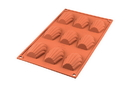 Silikomart 20.032.00.0060 Sf 032 Madeleines - Silicone Mould 68X45 H 17 Mm