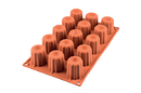 Silikomart 20.059.00.0065 Sf 059 Midi Cannelé - Silicone Mould 45 H 45 Mm