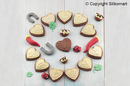Silikomart 25.167.77.0065 Cookie Abc - Brown Silicone Mould Cookie Abc + Cutter In Gift Box