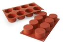 Silikomart 26.119.00.0065 Sf 119 Cylinders - Silicone Mould 63 H 40 Mm