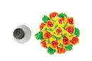 Silikomart 43.646.99.0001 Mini Flower Tube 06 - Stainless Steel Tips For Piping Bag 18 Mm
