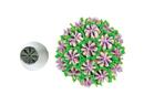Silikomart 43.647.99.0001 Mini Flower Tube 07 - Stainless Steel Tips For Piping Bag 18 Mm