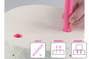 Silikomart 70.127.19.0061 Pioli Cake Design - Kit 5 Hollow Cake Design 15 300 Mm