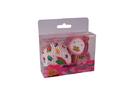 Silikomart 70.171.04.0063 Baking Cups - Set 24 Paper Cases + 24 Cake Topper Picks Teatime