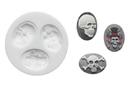 Silikomart 71.403.00.0096 Slk303 Silicone Mould Skulls