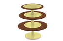 Silikomart 72.364.77.0065 Hula Up Brown Xxl - Multi-Layer Cake Stand 240 Mm - 300 Mm - 350 Mm