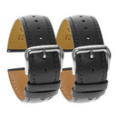 TOPTIE 2 Pcs Leather Watch Bands, 18/20/22/24mm Width, Quick Release Replacement Watch Strap