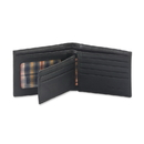 Style N Craft 200302-BL Bi-fold Wallet with Center Flap in Cow Leather, Black