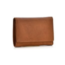 Style N Craft 300799-CG Ladies Trifold Leather Wallet in Tan with Snap Button Closure