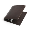 Style N Craft 391002 Slim Bifold Hipster Leather Wallet in Dark Brown Color