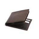 Style N Craft 391004 Bifold PassCase Leather Wallet with Flap in Dark Brown Color