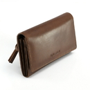 Style N Craft 391101 Ladies Clutch Wallet in Oak Color Leather