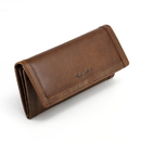 Style N Craft 391106 Long Clutch Wallet with Leather Frame in Oak Color Leather