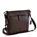 Style N Craft 392001 Cross Body Messenger Bag in Dark Brown Leather