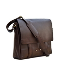 Style N Craft 392005 Large Messenger Bag in Dark Brown Leather