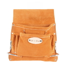Style N Craft 91823 8 Pocket Nail and Tool Pouch in Suede Leather