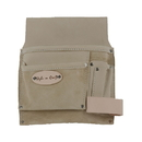 Style N Craft 92826 5 Pocket Nail and Tool Pouch in Top Grain Leather