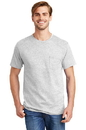 Hanes Tagless T-Shirt with Pocket.  5590