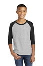 Gildan  Heavy Cotton  Youth 3/4-Sleeve Raglan T-Shirt
