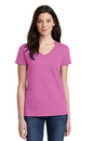 Gildan Ladies Heavy Cotton 100% Cotton V-Neck T-Shirt. 5V00L.