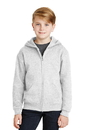 JERZEES - Youth 8-Ounce Full Zip Hooded Sweatshirt. 993B