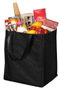 Port & Company - Extra-Wide Polypropylene Grocery Tote. B160.