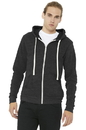 Bella+Canvas BC3909 Unisex Triblend Sponge Fleece Full-Zip Hoodie