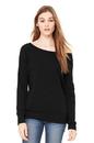 Bella+Canvas BC7501 Women's Sponge Fleece Wide-Neck Sweatshirt