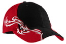 Port Authority - Colorblock Racing Cap with Flames. C859.