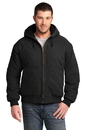 CornerStone Washed Duck Cloth Insulated Hooded Work Jacket CSJ41