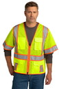 CornerStone ® ANSI 107 Class 3 Surveyor Mesh Zippered Two-Tone Short Sleeve Vest - CSV106