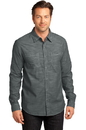 District - Mens Long Sleeve Washed Woven Shirt. DM3800.