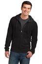 District Young Mens Lightweight Jersey Full-Zip Hoodie  DT1100