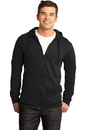 District - Young Mens The Concert Fleece Full-Zip Hoodie. DT800.