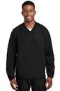 Sport-Tek - V-Neck Raglan Wind Shirt. JST72.