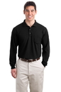 Port Authority - Long Sleeve Silk Touch Polo with Pocket. K500LSP