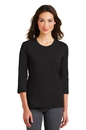 Port Authority - Ladies Modern Stretch Cotton 3/4-Sleeve Scoop Neck Shirt. L517.